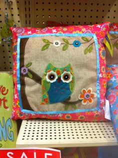 Hobby Lobby owl pillow Owl Crafts, Adult Crafts, Sewing Crafts, Sewing Projects, Sewing Ideas, Clear Ornaments, Owl Always Love You, Cute Owl, Decorative Cushions