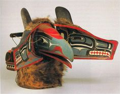 Late 19th Century Wolf Transformation Mask, Kawakwakawak