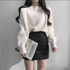 Kpop Fashion Outfits, Ulzzang Fashion, Korean Outfits, Asian Fashion, Cute Skirt Outfits, Cute Comfy Outfits, Classy Outfits, Cool Outfits, Aesthetic Fashion
