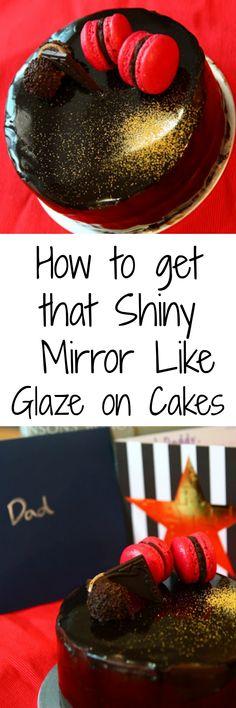 Chocolate Glacage Mirror like glaze for cakes