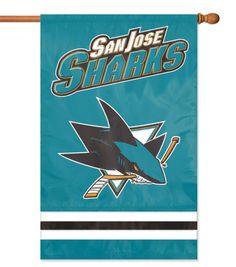 San Jose Sharks NHL Applique Banner Flag   Online Only Product