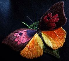 Beautiful stumpwork butterfly by Alison Cole....