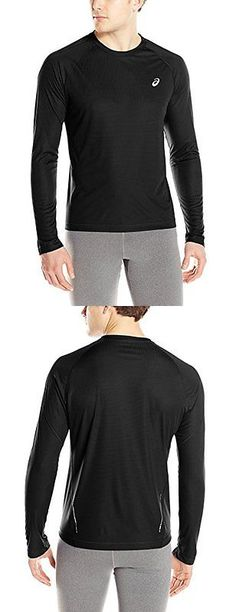 Other Mens Fitness Clothing 40892: Asics Mens Performance Run Long Sleeve Crew Top, Performance Black, Small -> BUY IT NOW ONLY: $33.24 on eBay!