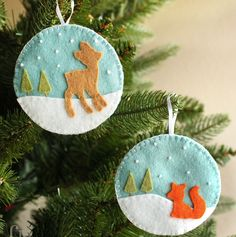 Happy Saturday everyone! We're on day seven of my 12 Days of Handmade Christmas Ornaments series, and I've got the cutest little felt deer and fox ornaments to show you. I don't know if you've noticed, but the fox seems to be quickly replacing the owl. Maybe it has something to do with the whole …