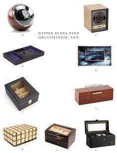 Watch boxes and valet trays for the well-dressed man (or the man who needs a little push in that direction!).