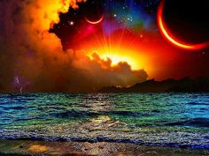 A beautiful sunset in the universe Beautiful Sunset, Beautiful World, Beautiful Places, Beautiful Scenery, Pretty Pictures, Cool Photos, Pretty Pics, Amazing Photos, Pretty Art