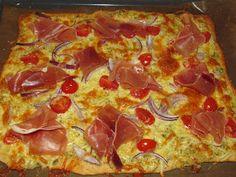 Cathrines matblogg: Hvit pizza med serranoskinke.