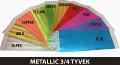 www.Trendywristbands.com: Metallic Color Tyvek Wristbands