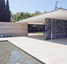 Mies Van der Rohe. Barcelona Pavillion. 1929. Torn down in 1930. Reconstructed between 1983 and 1986.