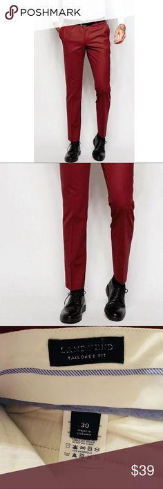 .⚡️. Lands End slim tailored fit trouser pants 30 Brand new with (department store) tags, men's Lands End slim tailored fit pants, size 30 waist. Rich red in color, tailored plain front and wrinkle resistant. These versatile pants are perfect for business, casual, or a night out. Check out my other listings to bundle and SAVE! Make me an offer... Lands' End Pants Dress