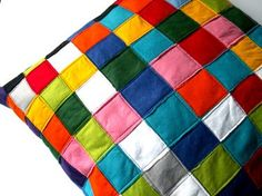 Color Block pillow by LeFreakMignon #DaWanda.com