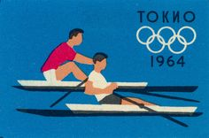 rowing poster Olympic Games Tokyo 1964