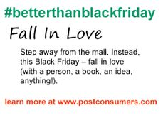 Black Friday Tip: Fall in Love
