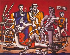 Leisure on red background - Fernand Leger, 1949