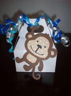 Monkey party favor boxes