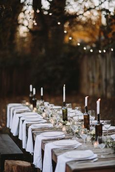 Rustic outdoor dining.