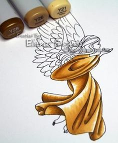 Getting a golden tone: coloring tutorial for Copic Markers ~ Color Me Copic