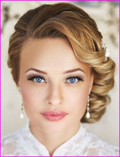 Best wedding guest hairstyles for short hair updo up dos 35 Ideas Wedding Hairstyles For Medium Hair, Wedding Guest Hairstyles, Side Hairstyles, Short Hair Updo, My Hairstyle, Vintage Hairstyles, Hairstyle Ideas, Wedding Hairdos, Bridal Hairstyles