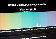 97th percentile.... like a boss.     Take the Test: How Well Do You See Color?