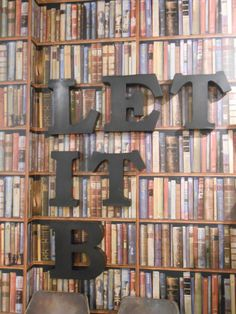"""""""Let it Be"""" - The Beatles , Library Wallpaper in Multi Andrew Martin Houston"""