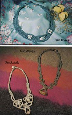 Vintage Macrame pattern - 3 necklaces for you to make - PDF.. £1.95, via Etsy.