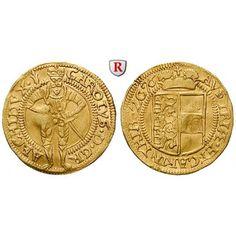 Römisch Deutsches Reich, Erzherzog Karl, Dukat 1576, f.vz: Erzherzog Karl 1564-1590. Dukat 1576 Klagenfurt. Stehender Herrscher von… #coins