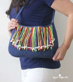 Yarnspirations Bernat Fringe Benefits Bag - Repeat Crafter Me