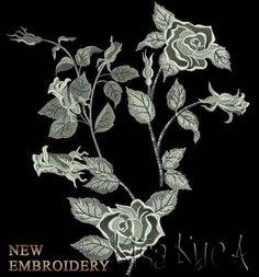Розы бесплатный дизайн машинной вышивки