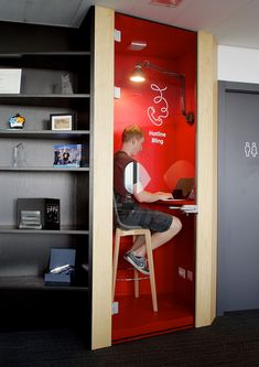 The perfect spot to make a phone call or escape for some focus work at the Infinum Offices in Zagreb, Croatia.