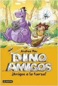 """""""¡Amigos a la fuerza!"""" de Andrea Pau ¿Quién dijo que los dinosaurios y los humanos no podían ser amigos? ototom oye un grito en el desierto. ¡Alguien ha caído en una grieta! Tiene unas patas, una cola y una barriga megalíticas: sin duda, se trata de un dinosaurio.¿Será peligroso? Y, lo más importante, ¿es realmente cierto que los humanos y los dinosaurios no pueden ser amigos? DE 6 A 8 AÑOS"""