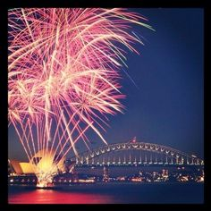 @travellingblond   Sydney Harbour lit up by fireworks #TravelSnaps