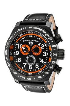 Men's SL Pilot Chronograph Watch by Swiss Legend Blowout on @HauteLook