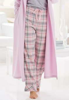 Plus Size Flannel sleep pants by Dreams & Co® | Plus Size pajamas - separates | Woman Within