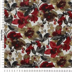 La Fleur Ruby Mulit Purpose Decorator Fabric