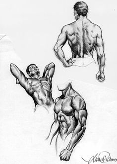Wasn't happy with my drawings the last couple of days...like i was getting rusty lol So i spent a few minutes sketching the male body form as practice Used references Texture from