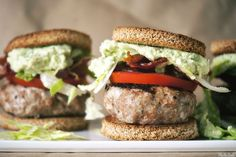 Turkey Sliders with Avocado-Ranch Dressing