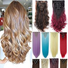 Days Delivery 18 Clips Inch Curly Straight Full Head Clip in on Hair Extensions Hairpiece Synthetic Hair Extensions, Clip In Hair Extensions, Bad Hair, Hair Day, Curly Hair Styles, Natural Hair Styles, Marley Hair, Curly Girl, Weave Hairstyles