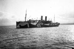 La discrétion à toute épreuve. Le Dazzle camouflage, les bateaux furtifs de la première guerre mondiale bateau furtif dazzle painting wold war guerre 07