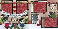 JOY-TO-THE-WORLD-CHRISTMAS-2-premade-scrapbook-pages-paper-piecing-BY-CHERRY