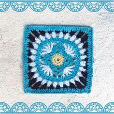 Moroccan crochet square #7 | Vrouekeur