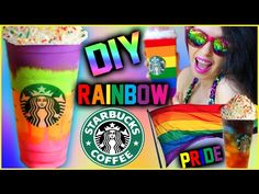 DIY Rainbow Starbucks Inspired Drinks! | Gay Pride Inspired! - YouTube