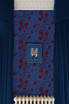 House of Hackney Indienne Wallpaper Eclectic Wallpaper, Interior Wallpaper, Home Wallpaper, House Of Hackney Wallpaper, French Interior, Interior Design, Interior Paint, Bathroom Interior, Victorian Wallpaper