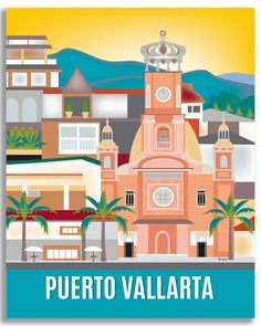 Puerto Vallarta wall art is available in an array of finishes, materials, and sizes, this retro inspired wall art will make Puerto Vallarta feel close to your heart with its bright color palette and u