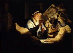 Rembrandt, Das Gleichnis vom reichen Kornbauern oder Der Geldwechsler / Parable of the Rich Man   by HEN-Magonza
