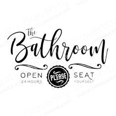 #MensBathroomDecor Bathroom Door Sign, Diy Bathroom Decor, Bathroom Art, Simple Bathroom, Bathroom Ideas, Bathrooms, Basement Bathroom, Bathroom Stuff, Dorm Bathroom