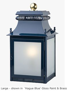 Ledbury Post Lantern (but in black and unlacquered brass) :: Charles Edwards