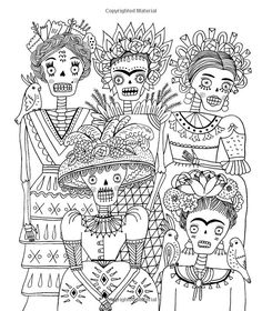 sarah walsh coloring - Bing Images. Just Add Color: Day of the Dead: 30 Original Illustrations To Color, Customize, and Hang Coloring Book