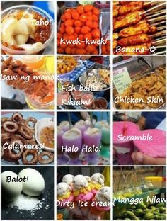 Pinoy street food is the best 👍 Pinoy Street Food, Filipino Street Food, Pinoy Food, Filipino Food, Filipino Dishes, Filipino Recipes, Filipino Desserts, Food Hub, Philippines Food