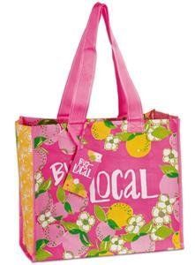 544ad3be43d945 Amazon.com - Lilly Pulitzer Market Bag - Tootie Fruity - Reusable Grocery  Bags