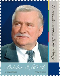 anniversary of the birth of Lech Wałęsa 70th Anniversary, Postage Stamps, Birth, Baseball Cards, People, Homeland, Poland, Being A Mom, Stamps